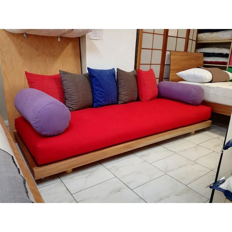 Divano Letto Colorato.Sofa Futon In Legno Massello