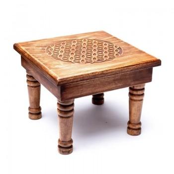 Tavolino Legno Fiore della...